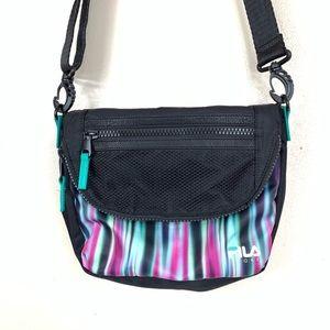 Fila sport abstract lights adjustable shoulder bag